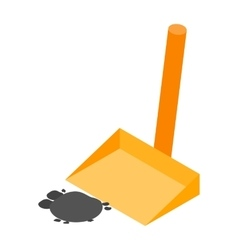 Scoop with garbage isometric 3d icon vector image vector image