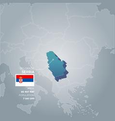 serbia information map vector image vector image