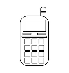 smartphone telephone technology line vector image vector image
