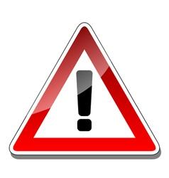 A warning sign vector image