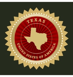 Star label Texas vector image