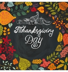 Thanksgiving dayAutumn leaves in circle vector image vector image