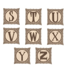 Vintage set capital letters floral Monograms and vector image vector image