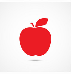 apple icon on white vector image