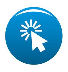 cursor interface icon blue vector image vector image