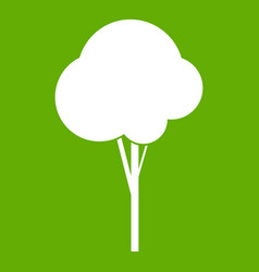 fluffy tree icon green vector image vector image