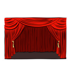 hand drawn theatrical stage vector image vector image