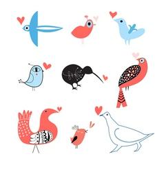 lovers of birds set vector image vector image