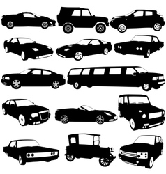 Set black silhouettes of different types of the vector image vector image