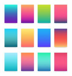 soft color gradient modern light background set vector image vector image