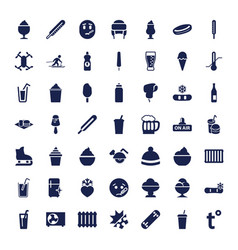 49 cold icons vector