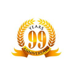 99 years ribbon anniversary vector