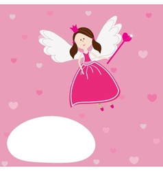 a beautiful fairy vector image