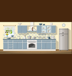 A classic kitchen vector