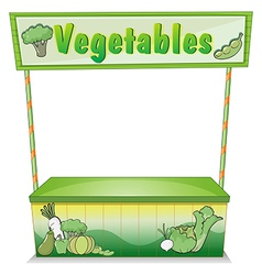 A vegetable stall vector