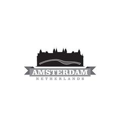 Amsterdam Netherlands city symbol vector