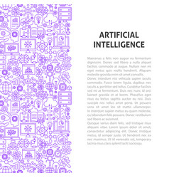 Artificial intelligence line pattern concept vector
