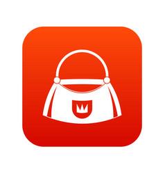 bag icon digital red vector image