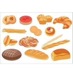Bakery product assortment set vector image