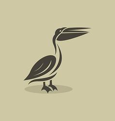 billed stork vector image
