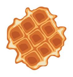 Breakfast waffle vector