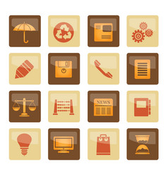 business and office internet icons vector image