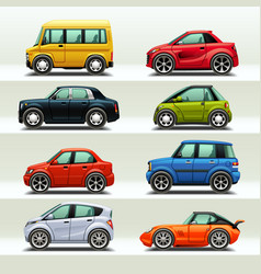 Car icon set-3 vector
