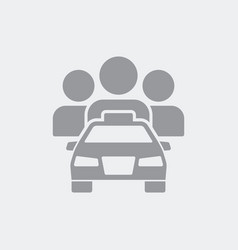 Car sharing icon vector