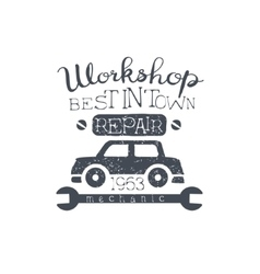 Car Workshop Black Vintage Stamp vector