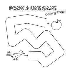 cartoon bird coloring book game for kids vector image