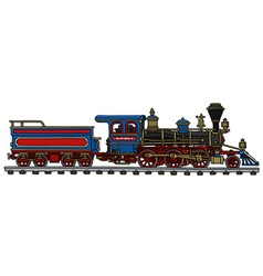 Classic american steam locomotive vector