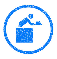 Cloakroom attendant rounded grainy icon vector