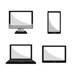 Computer smartphone and tablet vector image