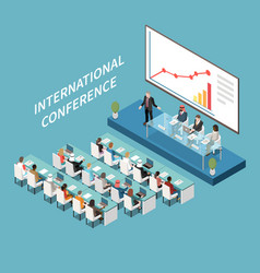 Conference hall composition vector