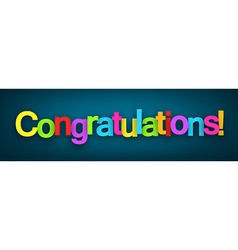Congratulations paper sign vector