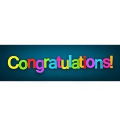 Congratulations paper sign vector