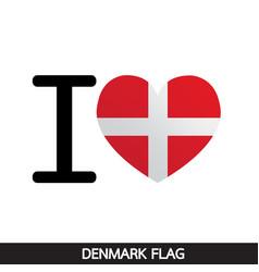 denmark flag design vector image