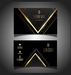 Elegant gold and black business card design vector