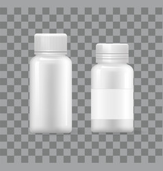 empty plastic medical containers isolated 3d icons vector image