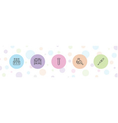 Experiment icons vector