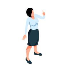 Female teacher icon vector