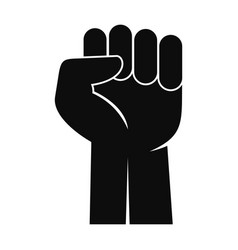 fist up icon simple style vector image