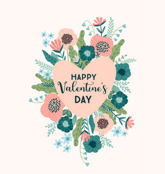 floral design concept for valentines day and other vector image