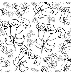 flower graphic floral hand drawn vector image