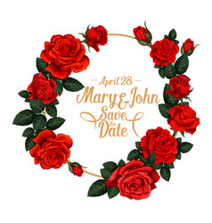 Flowers frame for wedding save the date vector