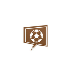 football for logo design in a chat icon vector image