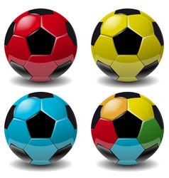 football soccer ball set isolated on white vector image