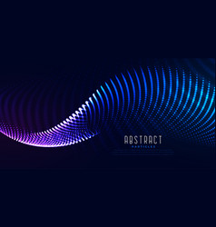 Glowing digital particle wave digital technology vector