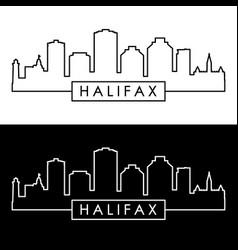 halifax skyline linear style editable file vector image
