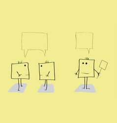 holding debates vector image
